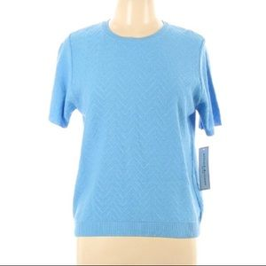 NEW Alfred Dunner Short Sleeve Sweater, Size LP